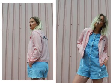 Stussy Women pink coach jacket