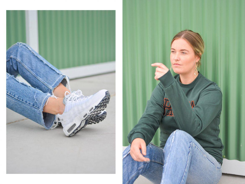Nike air max 95 white Girl on kicks