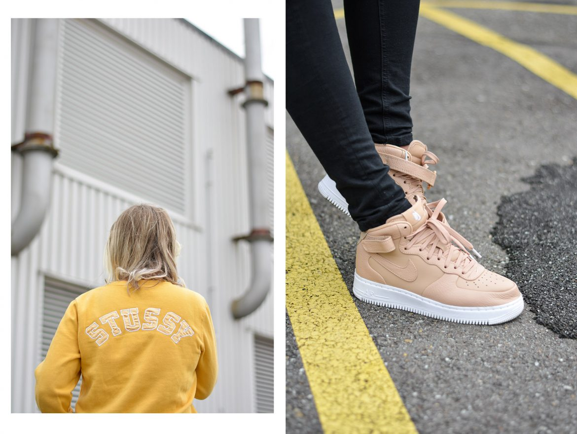 Because of this second pair of NikeLab air Force 1 mid 'Vachetta Tan' I  thought I'd shoot another outfit with this pair. Really basic but I don't  think ...